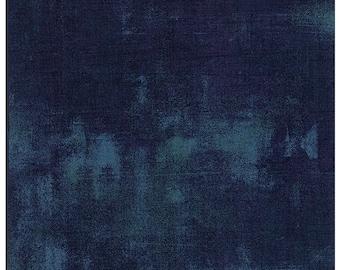 Moda Fabrics Grunge Texture New Colors 2017~ Blue Steel Cotton Fabric