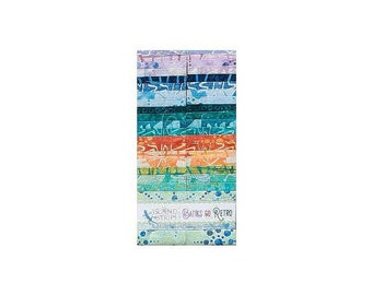 Batiks Go Retro 40Pc 2.5in Cotton Batik Strip Set - Island Batik