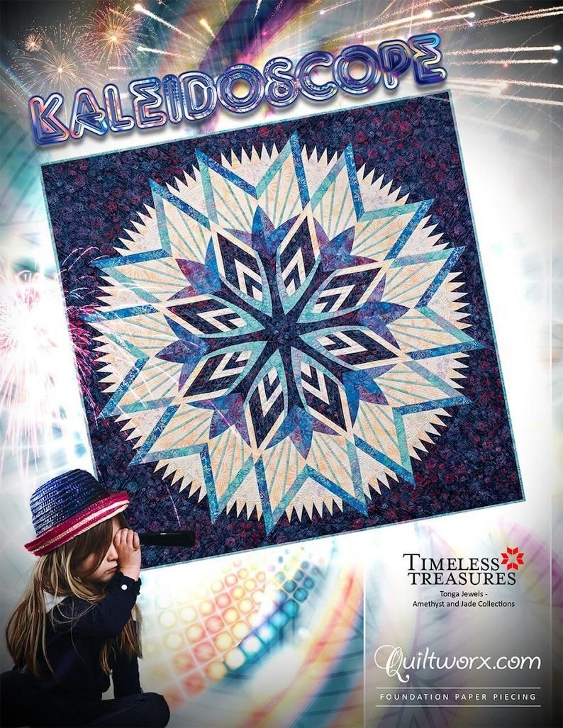 Pattern One-Fabric Kaleidoscope Quilt Pattern 64in x 85in by Jason Yenter