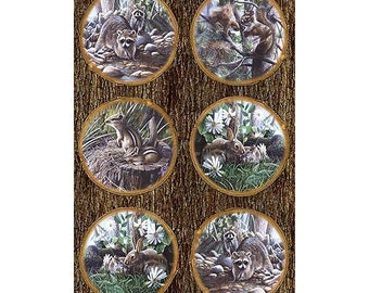 Friends Of The Forest Digital Panel 28in x 44in Cotton Fabric By Northcott
