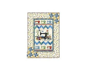Quilt Kit~A Stitch in Time Wall Hanging~36in x 51in Pattern & Fabric~Top/Binding, Northcott