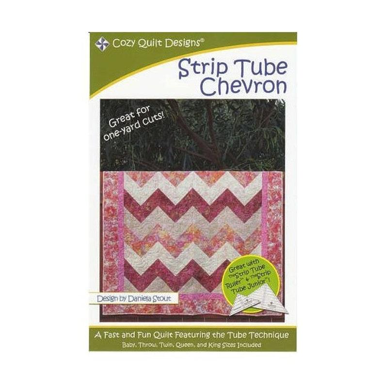 Strip Tube Chevron Quilting Pattern By Daniela Stout