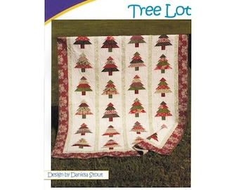 Tree Lot Quilt Pattern, Jelly Roll 2.5in Strip Set Friendly, 5 Sizes Options