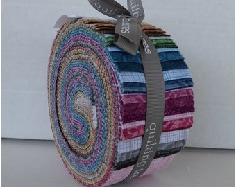Harmony Cotton Palette #4 Jelly Roll ~48 2 1/2in Strips By Quilting Treasures