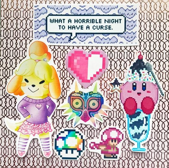 Kawaii Nintendo Sticker Set Etsy