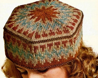 47577299e81ae Pillbox Hat Vintage Knitting Pattern Instant Download