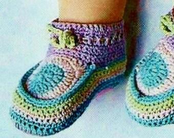 Crochet Baby Booties Vintage Crochet Pattern Instant Download