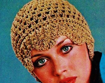 Lace Cloche Style Hat Vintage Crochet Pattern Download