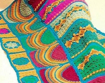 Crocheted Turkish Prayer Rug Afghan Digital Download Vintage Crochet Pattern