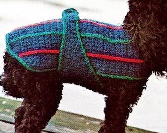 Crochet Dog Sweater Vintage Crochet Pattern Instant Download