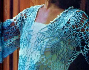 Lace Blouse Vintage Crochet Pattern Instant Download