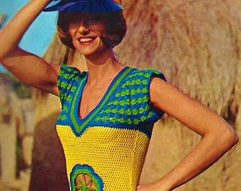 Crochet Top Vintage Crochet Pattern Instant Download