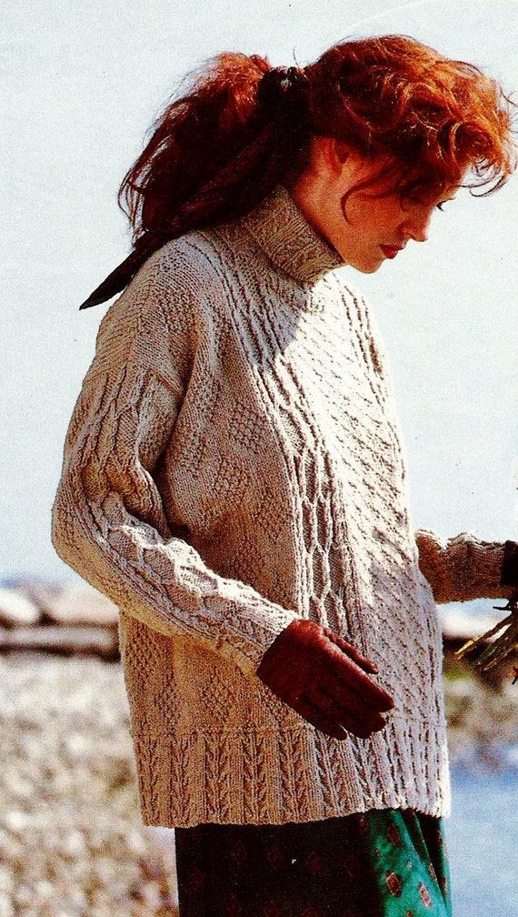 Seafarers Guernsey Sweater Vintage Knitting Pattern Etsy