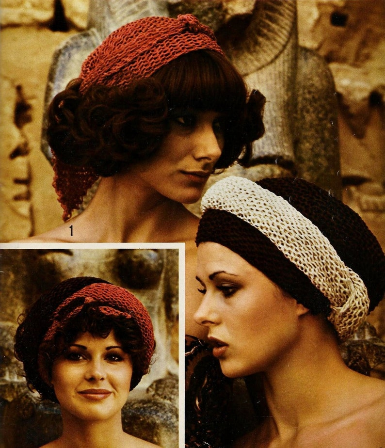 Easy Head Scarves Vintage Knitting Pattern Instant Download Etsy