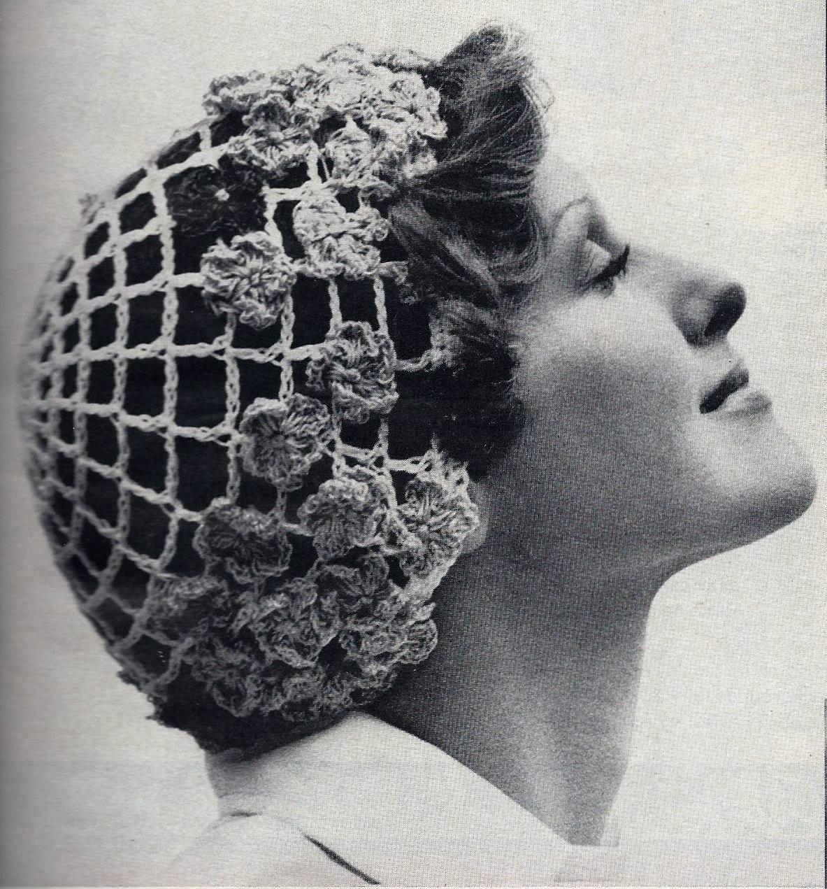 Mesh Caps Vintage Crochet Pattern Instant Download Etsy