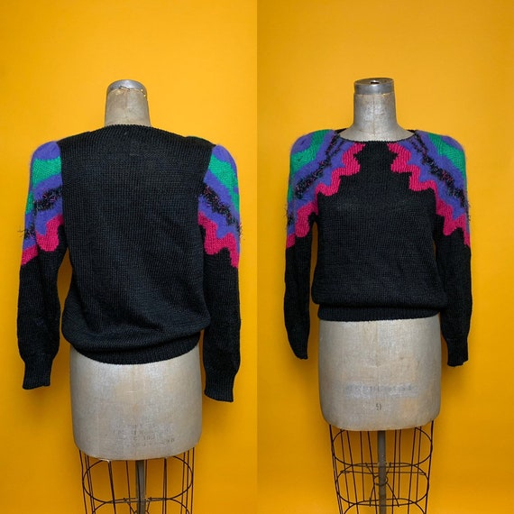 Gorgeous Vintage Sweater w/ Puffed Shoulders