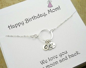 Birthday Gifts For Mom Mother Presents Gift Necklace In Law Initials