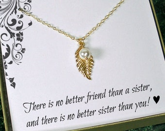 Sister In Law Birthday Gift Sterling Silver Lucky Necklace