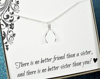 Sister Necklace, Sister Jewelry, Sister Gift Ideas, Sister Jewelry Gift, Unique Gifts for Sisters, Gift for Sister Jewelry, Sister