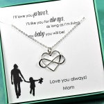 Daughter Gift from Mom, Daughter Necklace, Daughter Birthday Gift, Wedding Gift for Daughter, Infinity Heart, I'll Love You Forever Card