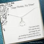 Friend birthday gift, friend necklace jewelry, friend birthday, Birthday gifts for friend, friendship, best friend, Gift message card