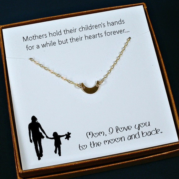 Gold Mom Necklace Gift Meaningful Unique