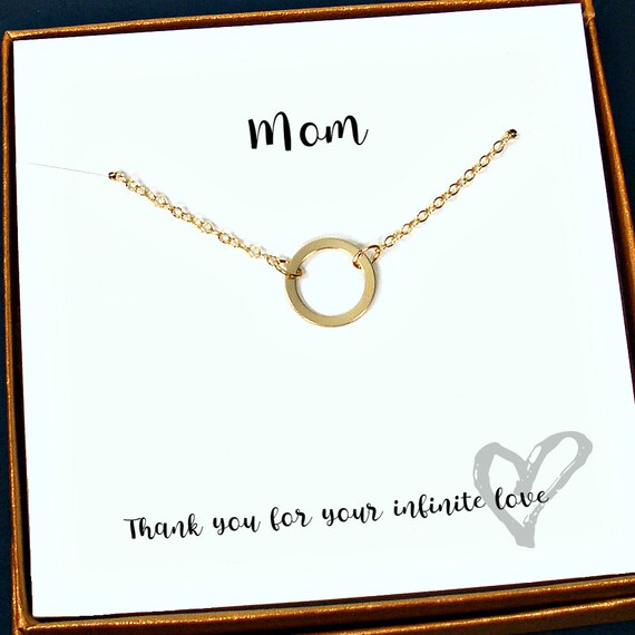 Mom Gifts Gold Necklace Birthday Gift Mothers Day