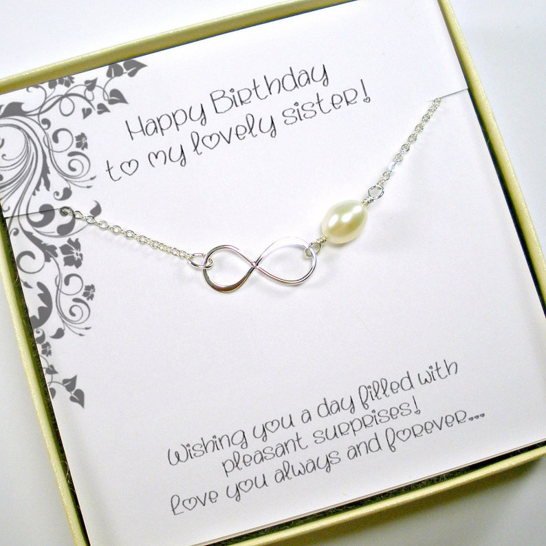 Sister Birthday Gift Necklace Infinity