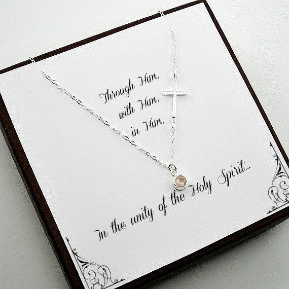 Konfirmation Geschenke Erste Kommuniongeschenk Bestätigung Sponcer Geschenk Einzigartige Christian Geschenke Geschenk Von Patin Für Mädchen