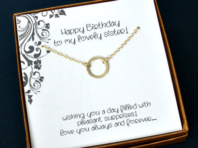 Sister Necklace Birthday Gift