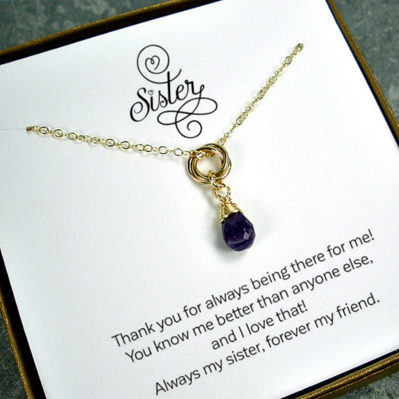 Unique Gifts For Sisters Sister Gift Necklace