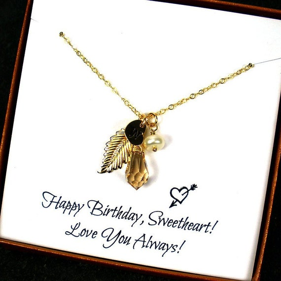 Personalized 18th Birthday Necklace Initial Custom: Birthday Gifts For Her Personalized Necklace For Her Gift