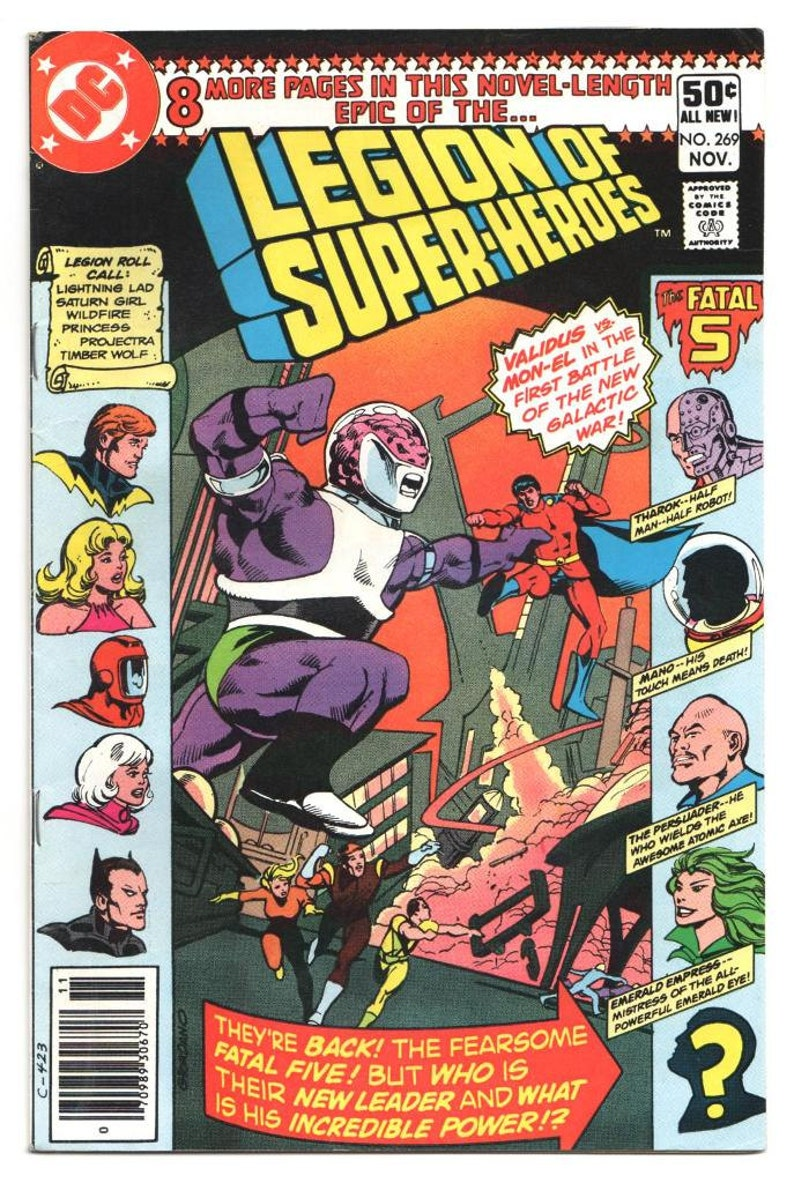 Legion of Super-Heroes  Issue's  269 283 304  1980 1983 269