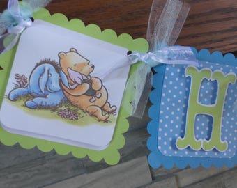 Vintage Pooh and Eeyore Happy Birthday Banner, Vintage pooh birthday banner,Pooh photo banner, 1st birthday boy banner,