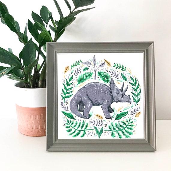 Square Print | Triceratops