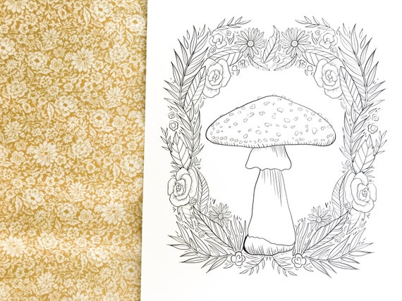 Wonderful Woodland Colouring Book | Digital PDF Download | 10 Illustrations and Colouring Sheets