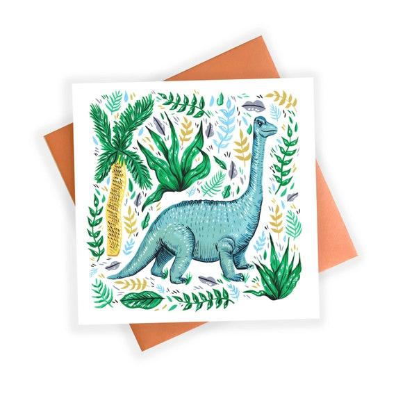 Greeting Card | Diplodocus