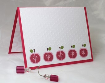 Apples, FIve Apples Note Card
