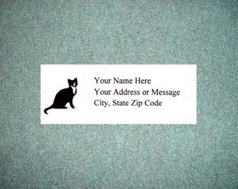 60 Siamese Cat Personalized Self Adhesive Quality Printed Address Return Labels 1 x 2.625  Free US Shipping!