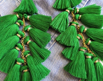 Decorative Tassel 10 pcs  T25CJ-05 Red Mini Tassels 2.5cm Boho Style Earring Tassels