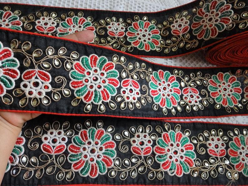 India ribbon;Decorative ribbon; rose trims;2mts