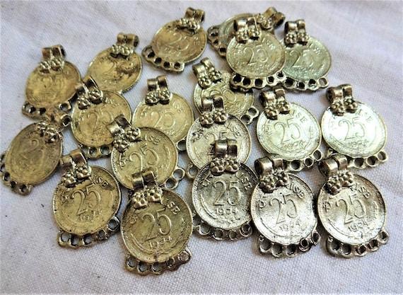 18 Mm Metall Münzen Schmuck Liefert Indische Münzen Antik Etsy