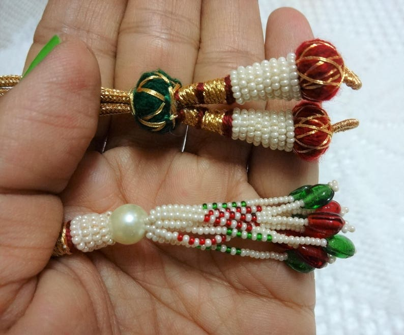 5623e8b1c4a3e Adjustable Handmade Necklace Thread, Indian Necklace Jewelry Cord, Jewelry  Supplies, Zari Dori - set of two