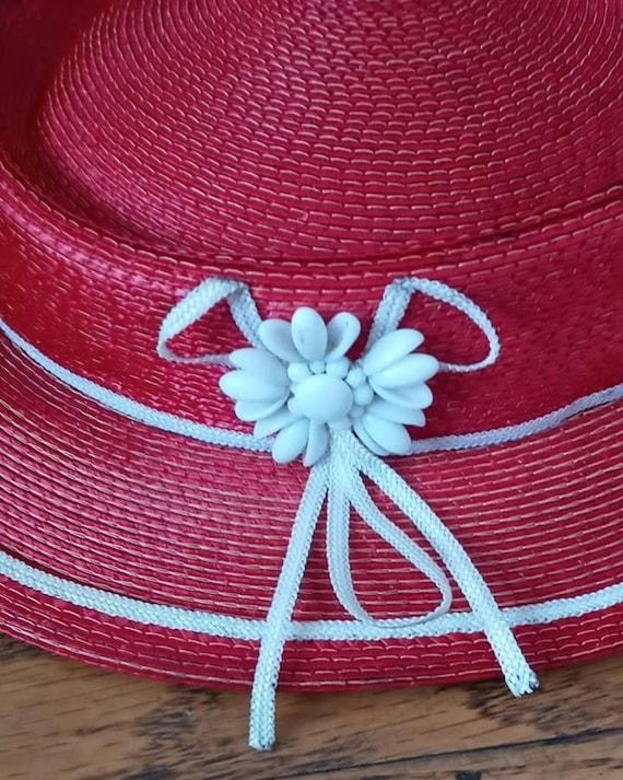 1930s Straw tilt Hat