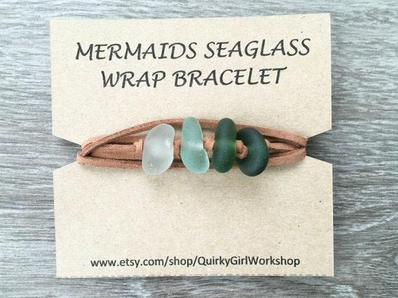 sea glass wrap bracelet