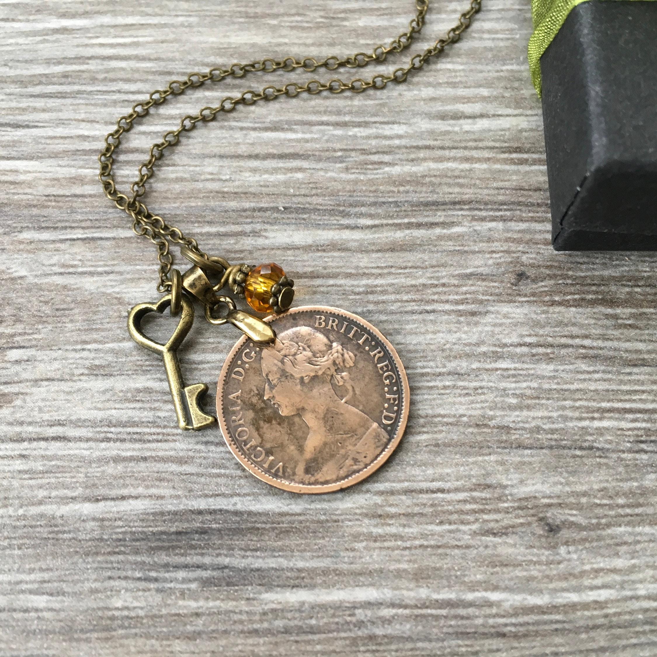 queen victoria coin necklace