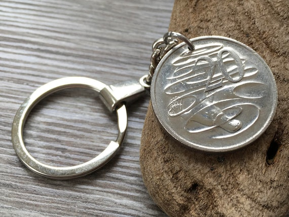 21st or 22nd birthday gift, 1998 or 1999 Australian coin keyring or clip, 20 cent Aussie keychain, anniversaryAustralia