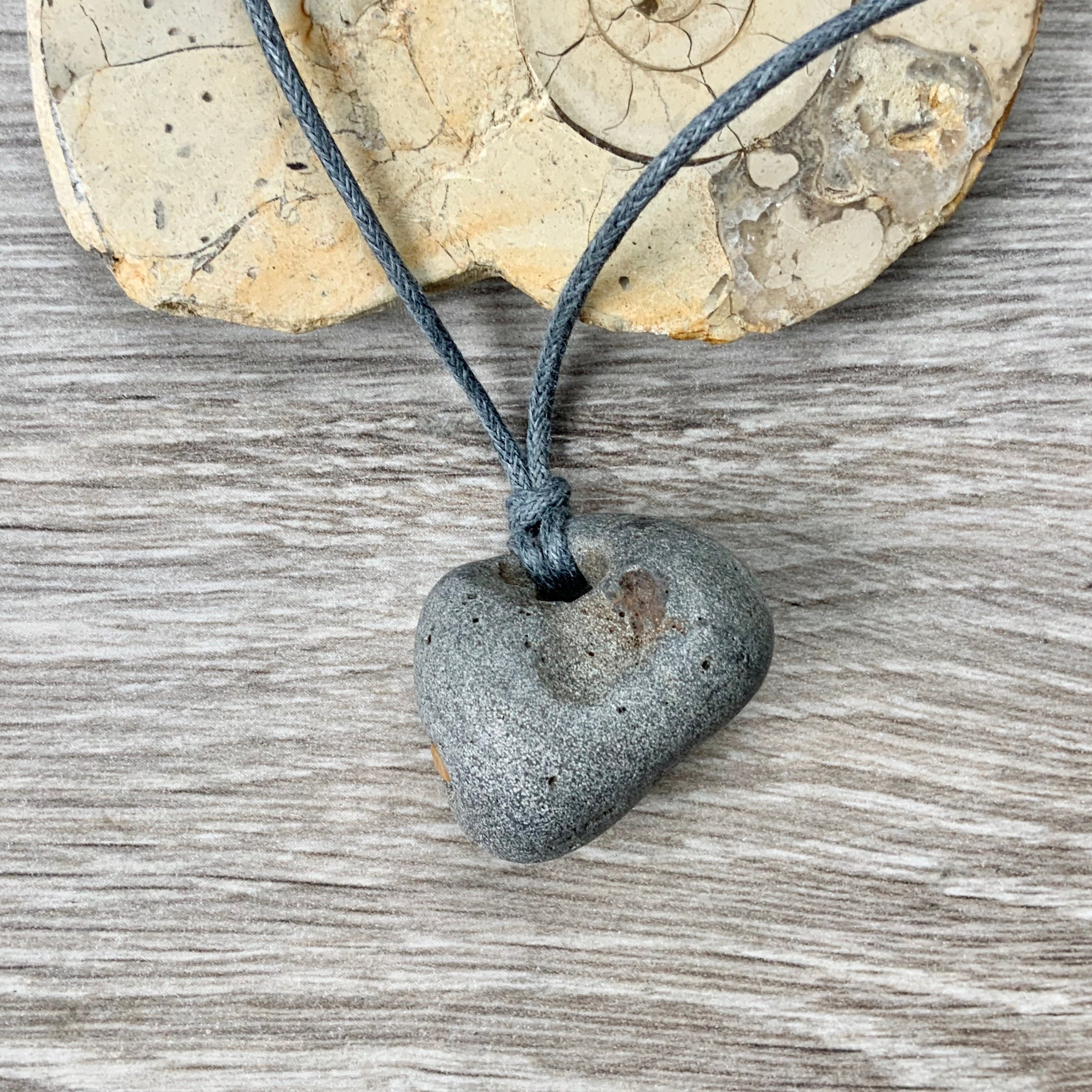 Hag Stone Pendant Raw Stone Necklace Beach Rock Jewellery Waxed Cotton Adjustable Cord Shop unique single stone necklaces from the world's best jewelry dealers. hag stone pendant raw stone necklace