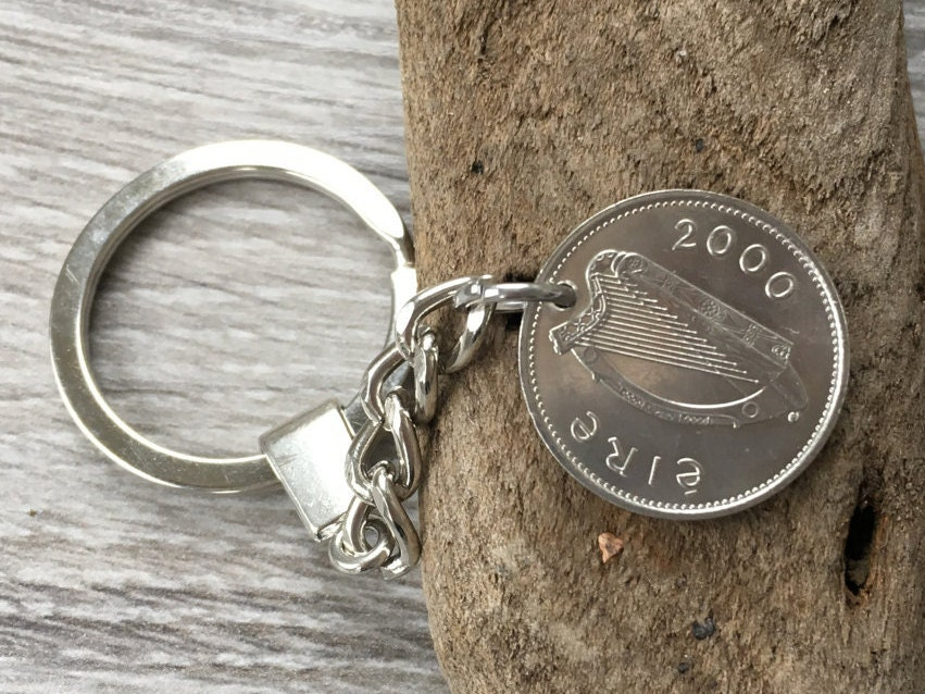 Gifts For 17th Wedding Anniversary: 18th Birthday Or Anniversary Gift 2000 Irish Coin Keyring