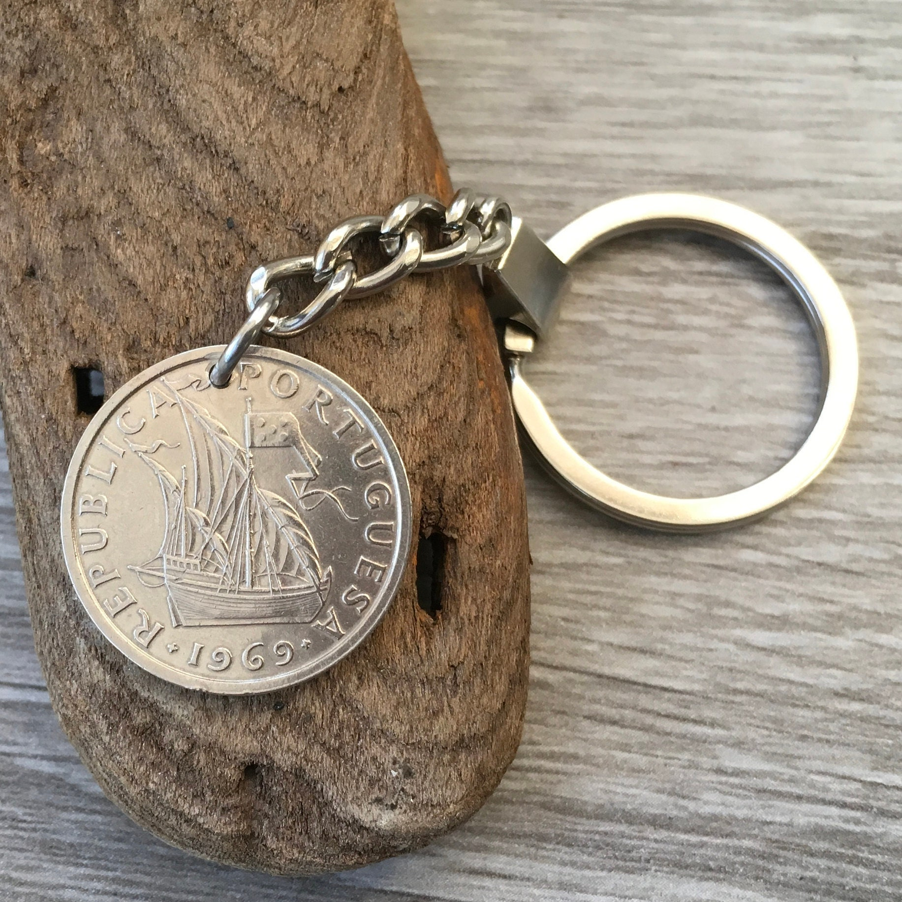 1967, 1968, 1969 Portuguese Coin Keyring, Portugal